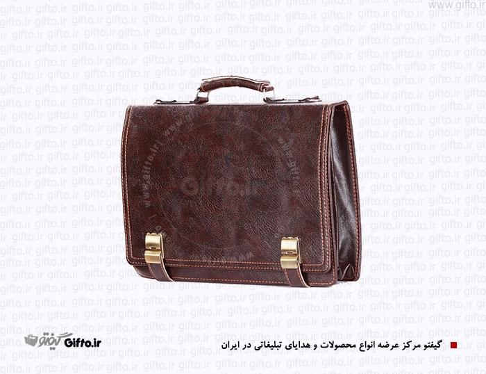 کیف سمیناری 2 قفله چرم مصنوعی