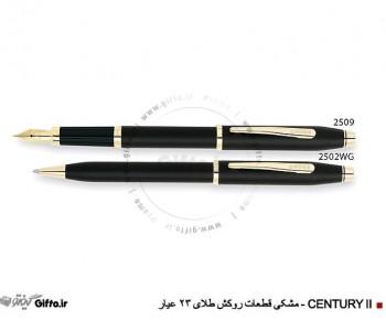 قلم Century II مشکی روکش طلا کراس
