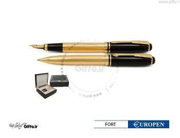 قلم Fort نیمه مشکی طلایی یوروپن