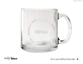 لیوان شیشه ای شفاف