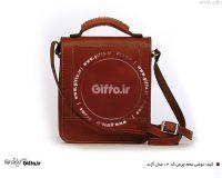 کیف چرمی دوشی آژند کد 12