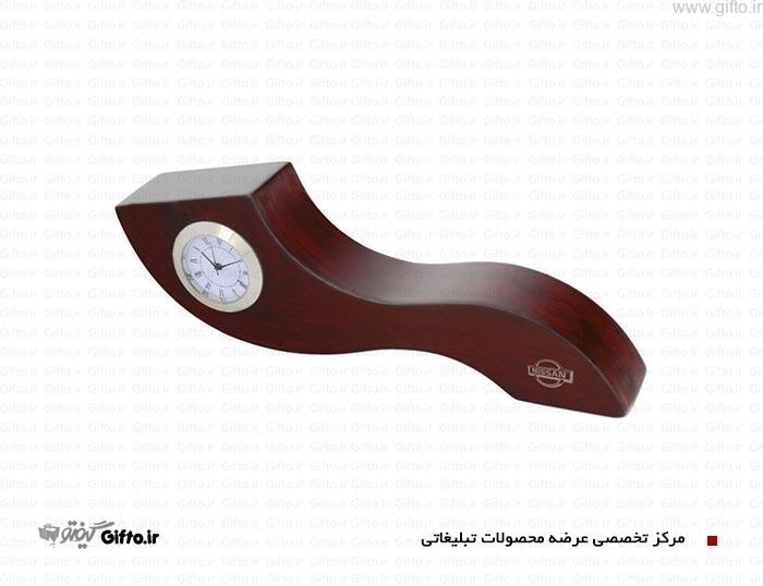 ساعت رومیزی چوبی 5604