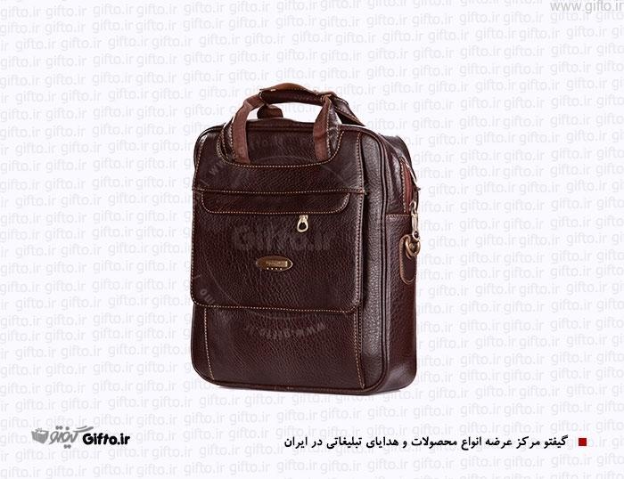 کیف چرمی حمایلی چرم مصنوعی کیف تبلیغاتی کیف سمیناری