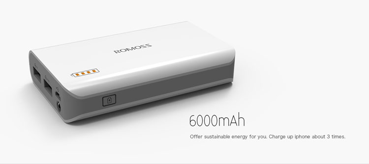 پاوربانک Romoss solo 3 6000mAh power bank