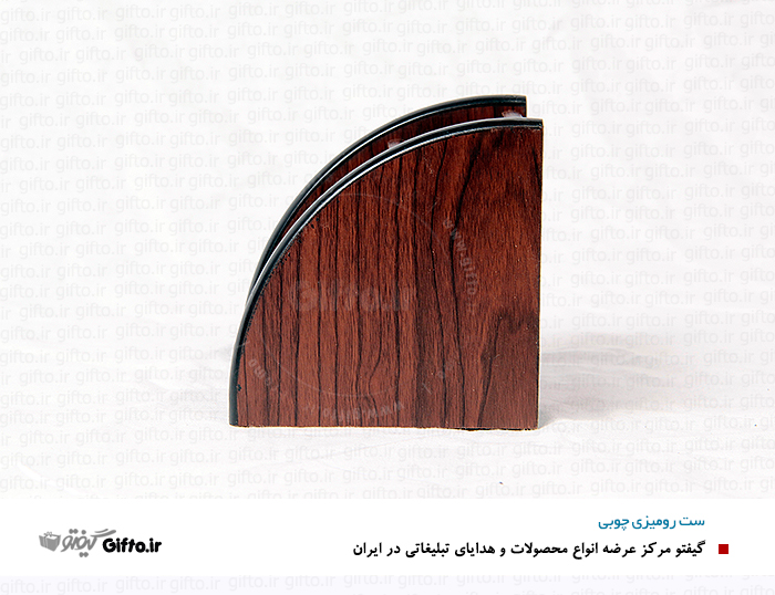 جای خودکار و کارت رومیزی چوب ست رومیزی چوبی5968
