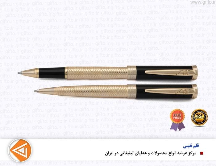 قلم نیمه مشکی طلایی MARSHAL پیرگاردین-هدایای نفیس