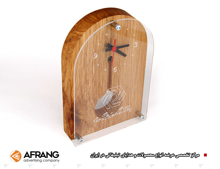 ساعت رومیزی چوبی پاندول دار