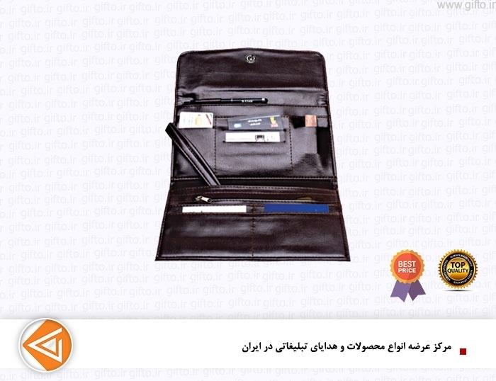 کیف مدارک چرمی تبلیغاتی L100